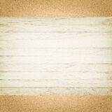 Wood board on cardboard background Stock Photo