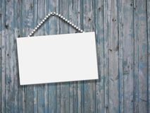 Wood board empty letter Stock Photography