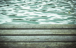 Wood board pattern with water surface. Background Stock Images