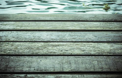 Wood board pattern  with water surface. Wood board pattern  with water surface background Royalty Free Stock Images