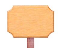 Wood board sign Stock Photo