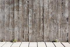 Wood board texture concrete wall Stock Photos