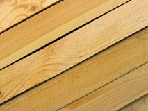 Wood boards. Background. New yellow wood boards stock images
