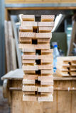 Wood boards. With blurred background Royalty Free Stock Image