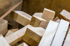 Wood boards. With blurred background Royalty Free Stock Photo