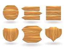 Wood boards of different shapes Stock Photography