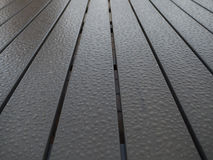 Wood boards. With drops of rain Stock Photo