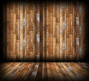 Wood boards finishing on indoor background Royalty Free Stock Photography