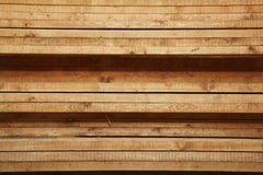 Wood boards or planks stacked Royalty Free Stock Photography
