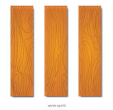 Wood boards set Royalty Free Stock Photos