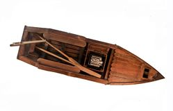 Miniature Wooden Boat Craft Royalty Free Stock Image
