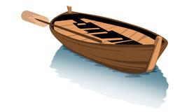 Wood boat clipart. White boat cartoon clipart Stock Image