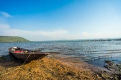 Wood boat on the coast Stock Image