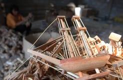 Wood boat craft Stock Photos