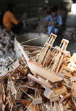 Wood boat craft Stock Images