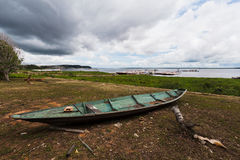 Wood Boat in Manaus Stock Photos