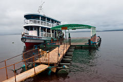 Wood Boat in Manaus Brazil Stock Photo
