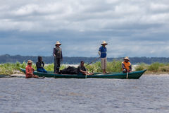 Wood Boat in Manaus Stock Image