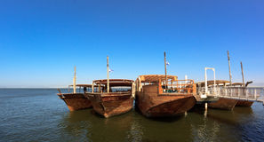 Wood Boats Stock Photography