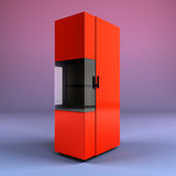 Wood boiler 3d render on gradient background. Boiler 3d render on gradient background Royalty Free Stock Photography