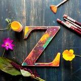Wood bokstav Z fotografering för bildbyråer