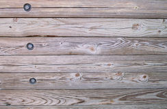 Wood with Bolts Royalty Free Stock Photos