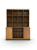 Wood bookcase Royalty Free Stock Photos