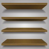 Wood bookshelf design Royalty Free Stock Images