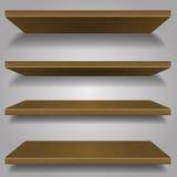 Wood bookshelf design Royalty Free Stock Images