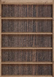 Wood bookshelves Stock Photography