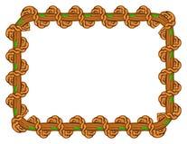 Wood  border frame design Royalty Free Stock Photo