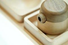 Wood bottle sauce kitchenware Stock Photos