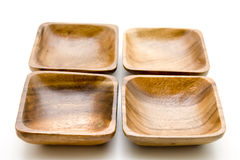 Wood bowl Stock Image