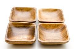 Wood bowl Stock Image