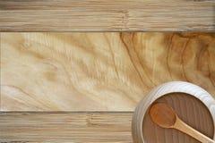 Wood Bowl Background Royalty Free Stock Image