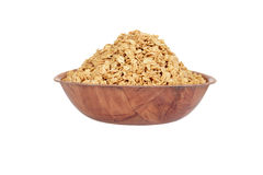 Wood bowl of granola Stock Images