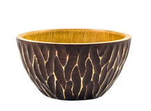 Wood bowl Royalty Free Stock Images