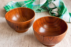 Wood bowls Royalty Free Stock Photos