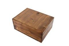 Wood box. Studio shoot of brown wood box Stock Images