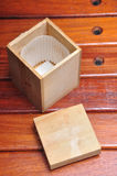 Wood box container Royalty Free Stock Images