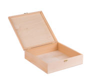 Wood box empty. Royalty Free Stock Photography