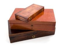 Wood Box Isolated Royalty Free Stock Photography