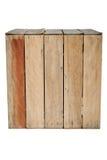 Wood box. Isolated big wood old box Royalty Free Stock Photo