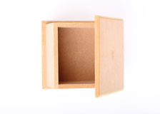 Wood box isolated Stock Photos