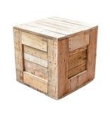Wood box isolated on white background Royalty Free Stock Photos