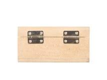 Wood box isolated on white. Background Royalty Free Stock Photo