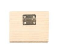 Wood box isolated on white Royalty Free Stock Photo