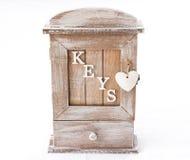 Wood box for keys Royalty Free Stock Photography
