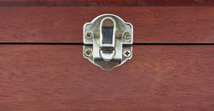 Wood box lock Royalty Free Stock Photos