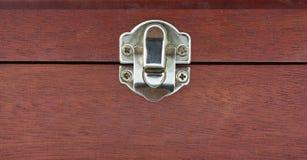 Wood box lock royalty free stock photos